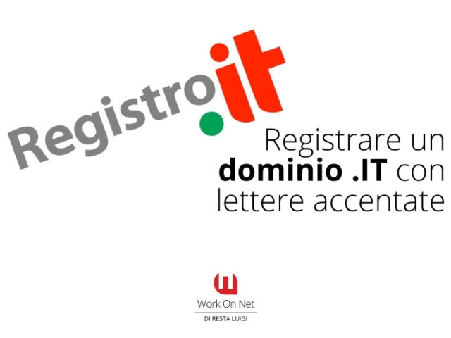 Registrare un dominio .IT con lettere accentate