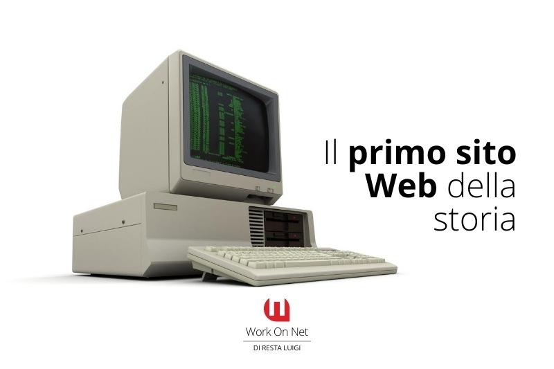 il primo sito web della storia