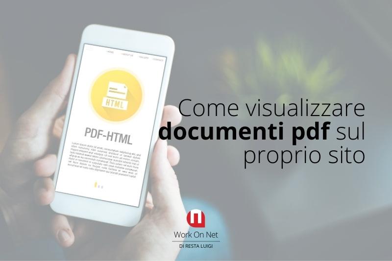 Come visualizzare documenti pdf sul proprio sito